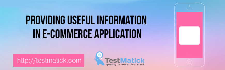 Providing Useful Information in E-Commerce Application