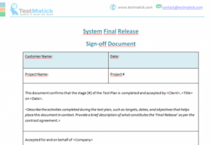 System Final Release