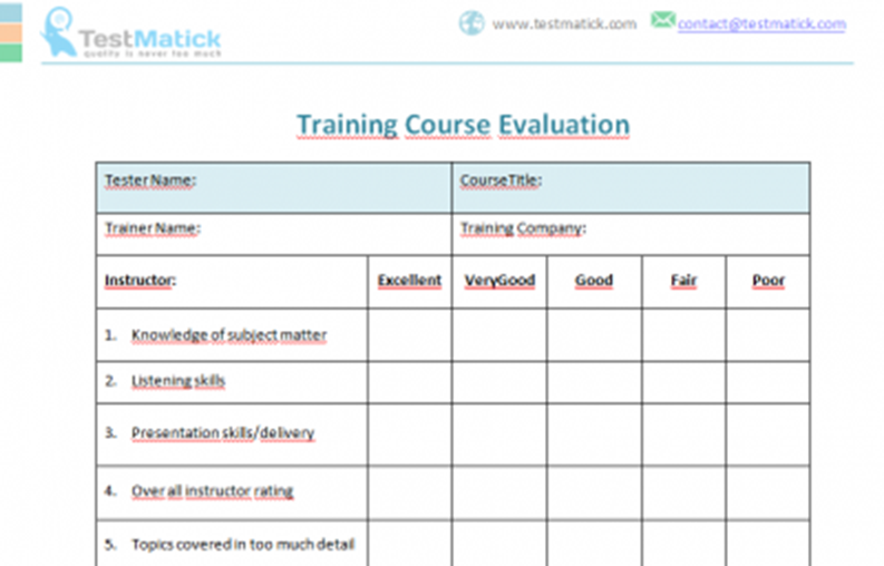 Training Course Evaluation