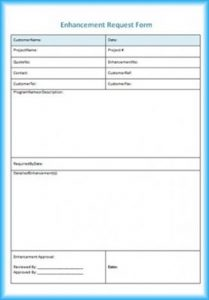 Enhancement Request Form