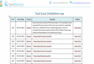 Test Case Validation Log
