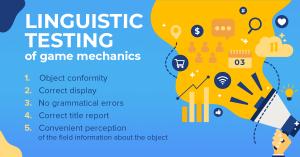 Linguistic testing of game mechanics