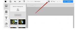 Специальная кнопка в шапке сайта