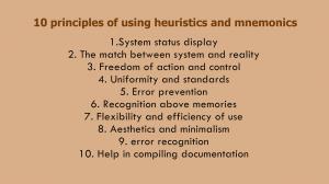 10 Principles of Using Heuristics and Mnemonics