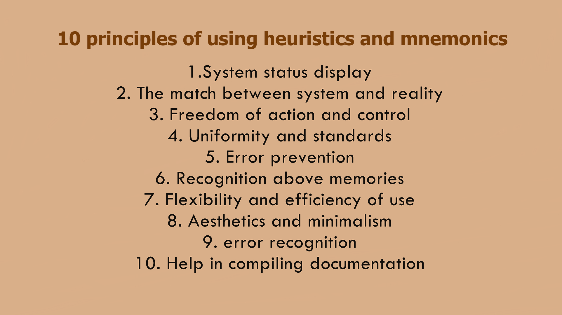 10 Principles of Using Heuristics and Mnemonics