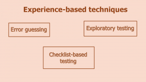 Experience-Based Techniques