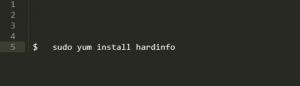 Команда установки Hardinfo в Fedora, CentOS и Red Hat