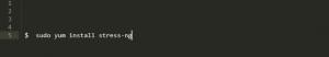 Команда установки stress-NG в RED Hat и CentOS