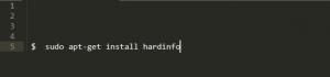 Команда установки Hardinfo в Ubuntu