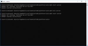 Adb start-server и kill-server