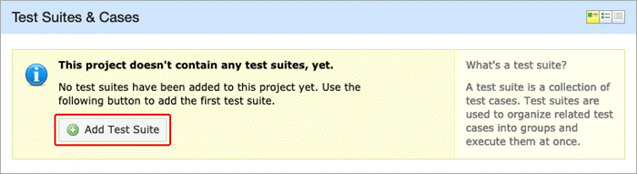 Creating a new test suite
