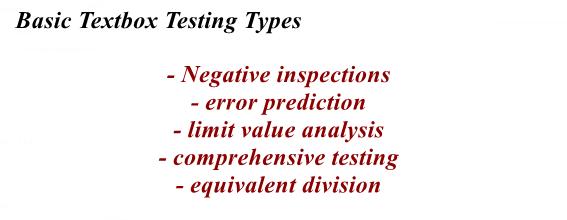 Basic textbox testing types