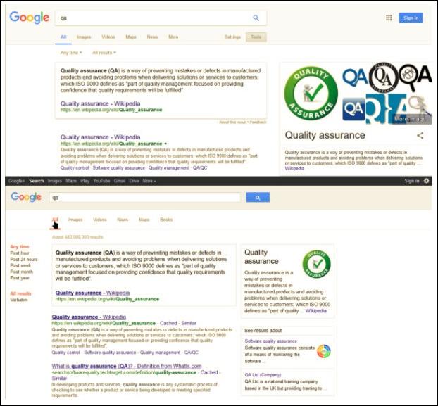 Google поиск при выключенном JavaScript
