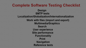 Complete Software Testing Checklist