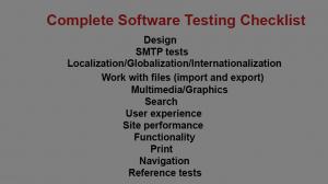 Complete Software Testing Checklist