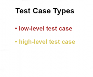 Test Case Types