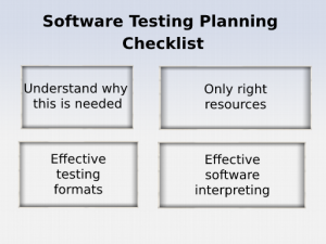 Software Testing Planning Checklist
