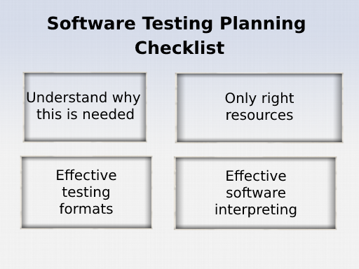 Software Testing Planning Checklist