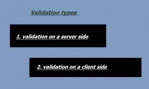 Validation Types