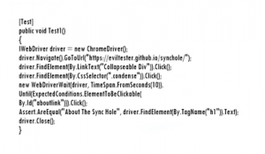 Example of using WebDriver in C#