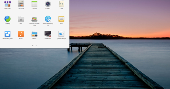 Elementary OS interface