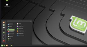 Linux Mint interface