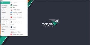 Manjaro interface