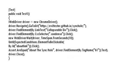 Пример использования WebDriver на C#