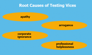 Root Causes of Testing Vices