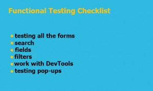 Functional Testing Checklist