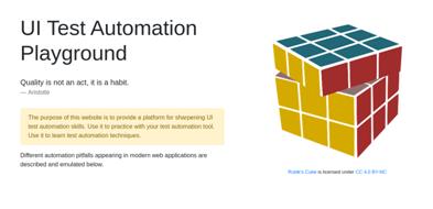 UI Test Automation Playground