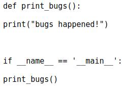 Модуль bugs