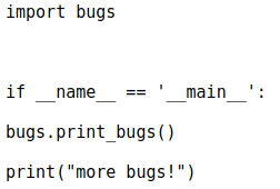 Модуль more_bugs