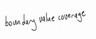 boundary value coverage
